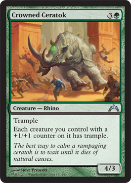 Crowned Ceratok | Magic: The Gathering Card