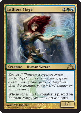 Fathom Mage | Magic: The Gathering Card