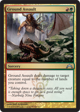 Ground Assault | Magic: The Gathering Card