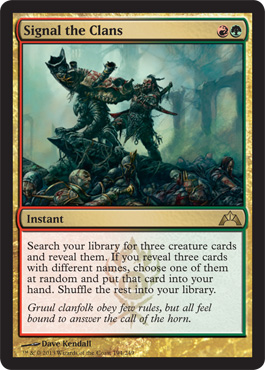 Signal the Clans | Magic: The Gathering Card