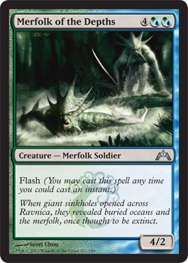 Merfolk of the Depths | Magic: The Gathering Card