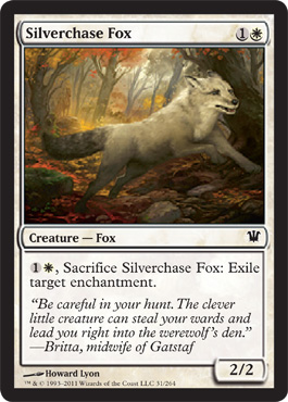 Silverchase Fox | Magic: The Gathering Card