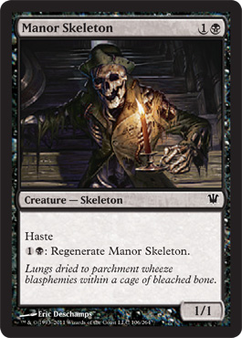 Manor Skeleton | Magic: The Gathering Card
