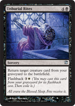 Unburial Rites | Magic: The Gathering Card