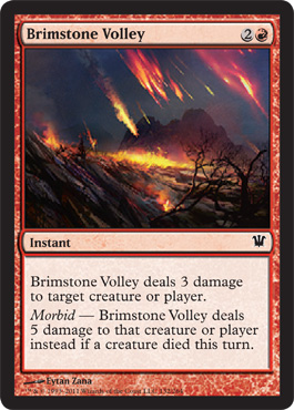 Brimstone Volley | Magic: The Gathering Card