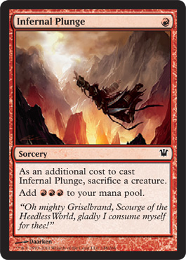 Infernal Plunge | Magic: The Gathering Card