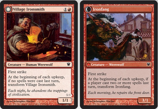 Village Ironsmith / Ironfang | Magic: The Gathering Card