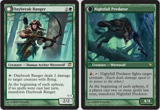 Daybreak Ranger / Nightfall Predator | Magic: The Gathering Card