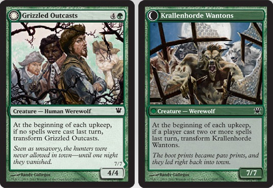 Grizzled Outcasts / Krallenhorde Wantons | Magic: The Gathering Card