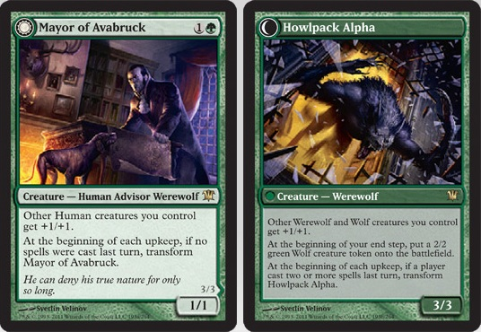 Mayor of Avabruck / Howlpack Alpha | Magic: The Gathering Card