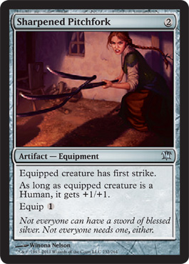Sharpened Pitchfork | Magic: The Gathering Card