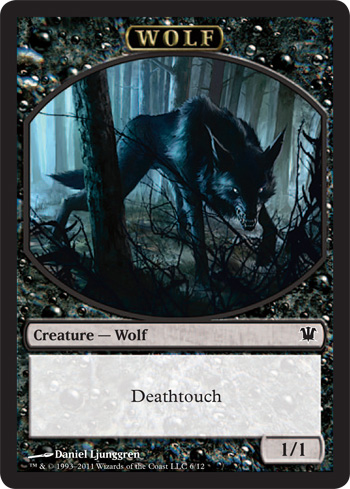 Wolf Token | Magic: The Gathering Card