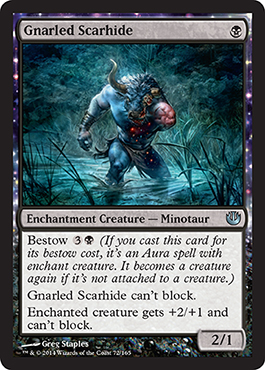Gnarled Scarhide | Magic: The Gathering Card