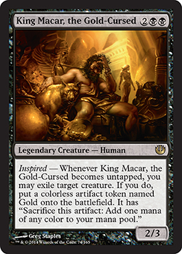 King Macar, the Gold-Cursed | Magic: The Gathering Card