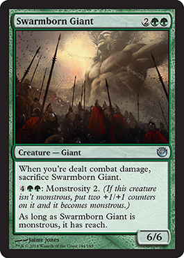 Swarmborn Giant | Magic: The Gathering Card