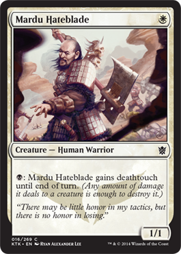 Mardu Hateblade | Magic: The Gathering Card