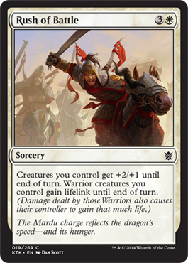 Rush of Battle | Magic: The Gathering Card