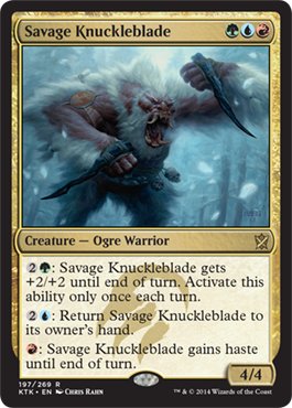Savage Knuckleblade | Magic: The Gathering Card