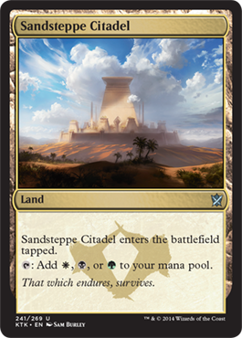 Sandsteppe Citadel | Magic: The Gathering Card