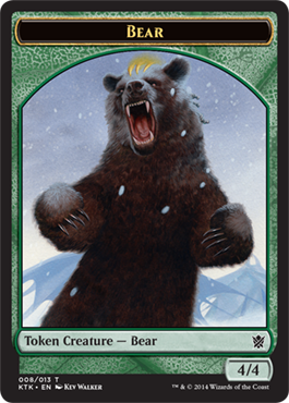 Bear Token | Magic: The Gathering Card