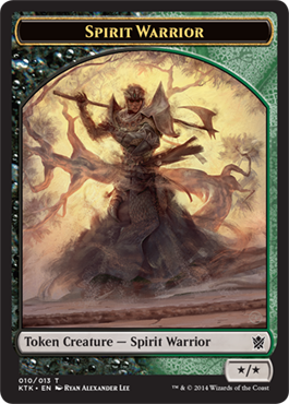 Spirit Warrior Token | Magic: The Gathering Card