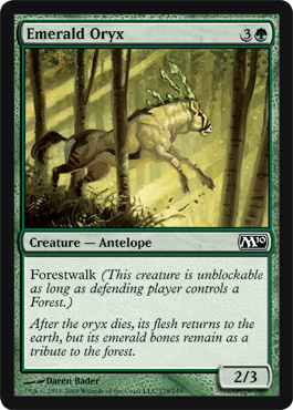 Emerald Oryx | Magic: The Gathering Card