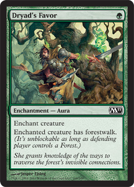 Dryad's Favor | Magic: The Gathering Card