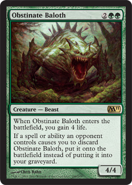 Obstinate Baloth | Magic: The Gathering Card