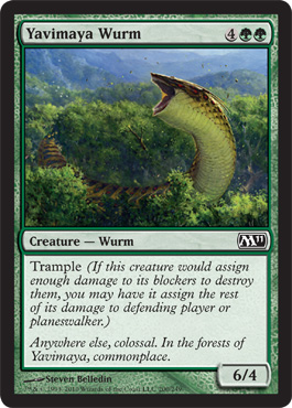 Yavimaya Wurm | Magic: The Gathering Card