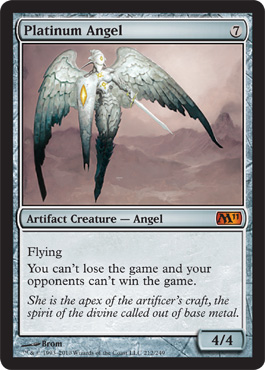 Platinum Angel | Magic: The Gathering Card