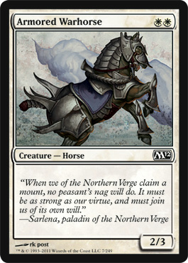 Armored Warhorse | Magic: The Gathering Card