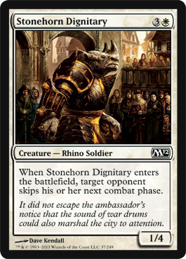 Stonehorn Dignitary | Magic: The Gathering Card