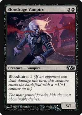 Bloodrage Vampire | Magic: The Gathering Card
