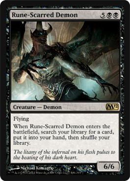 Rune-Scarred Demon | Magic: The Gathering Card