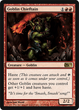 Goblin Chieftain | Magic: The Gathering Card