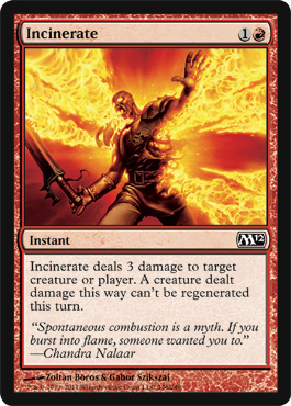 Incinerate | Magic: The Gathering Card
