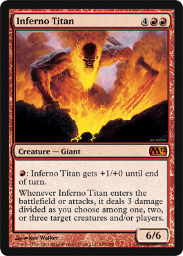 Inferno Titan | Magic: The Gathering Card