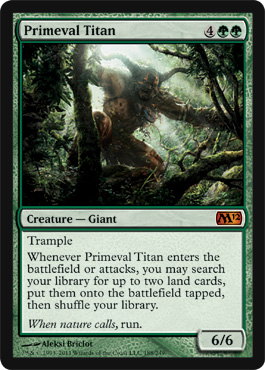 Primeval Titan | Magic: The Gathering Card