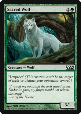 Sacred Wolf | Magic: The Gathering Card