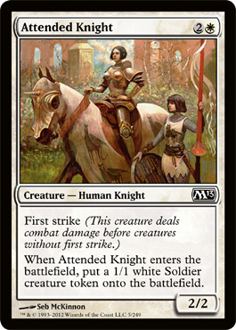 Attended Knight | Magic: The Gathering Card