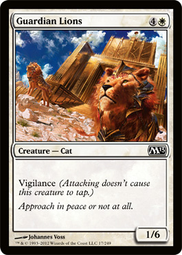 Guardian Lions | Magic: The Gathering Card