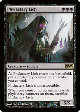 Phylactery Lich | Magic: The Gathering Card