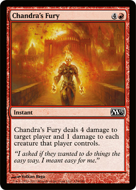 Chandra's Fury | Magic: The Gathering Card