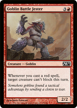 Goblin Battle Jester | Magic: The Gathering Card