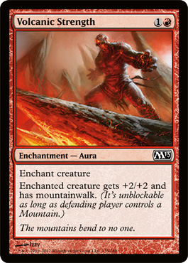Volcanic Strength | Magic: The Gathering Card