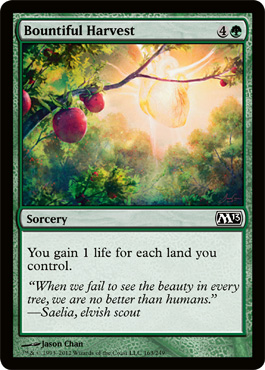 Bountiful Harvest | Magic: The Gathering Card