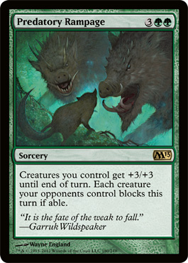 Predatory Rampage | Magic: The Gathering Card