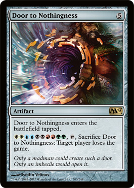 Door to Nothingness | Magic: The Gathering Card