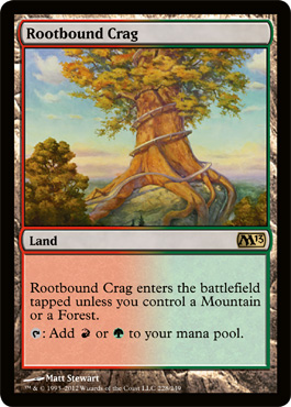 Rootbound Crag | Magic: The Gathering Card