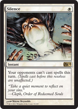 Silence | Magic: The Gathering Card